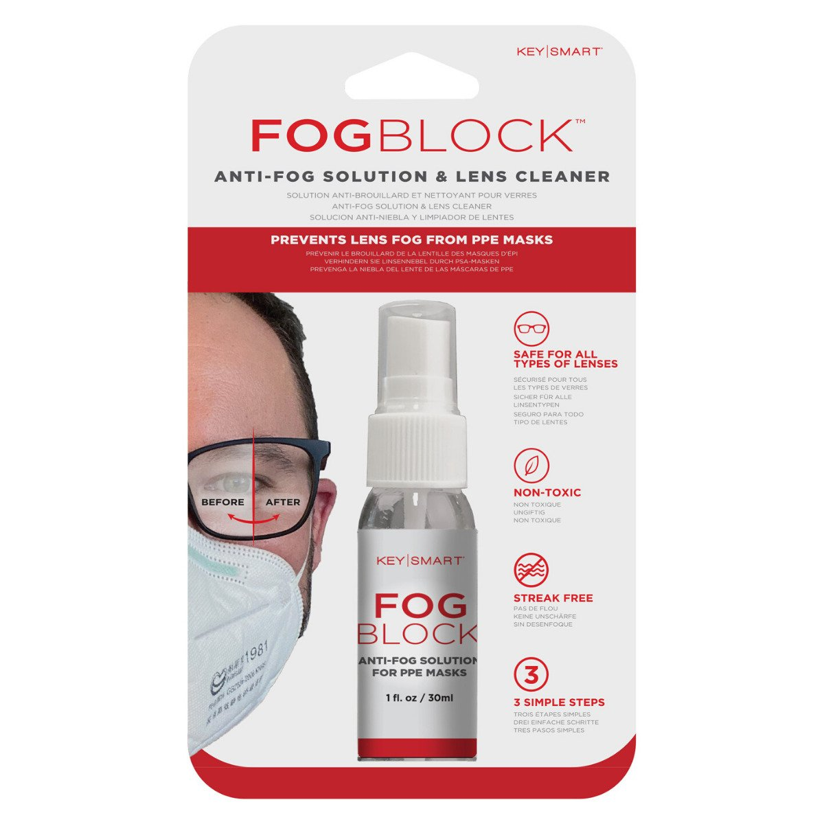 FogBlock spray keeps your glasses fog-free while wearing a face mask 18