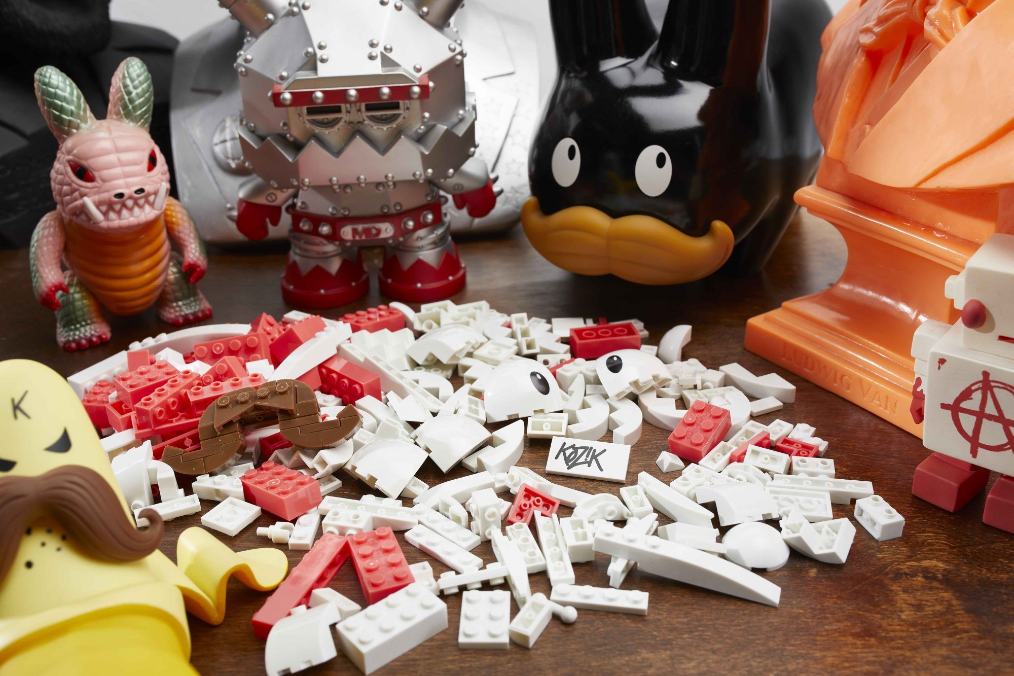 MEGA collabs with Frank Kozik for a build-your-own Labbit 14