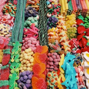 Candy. A lot of candy 30