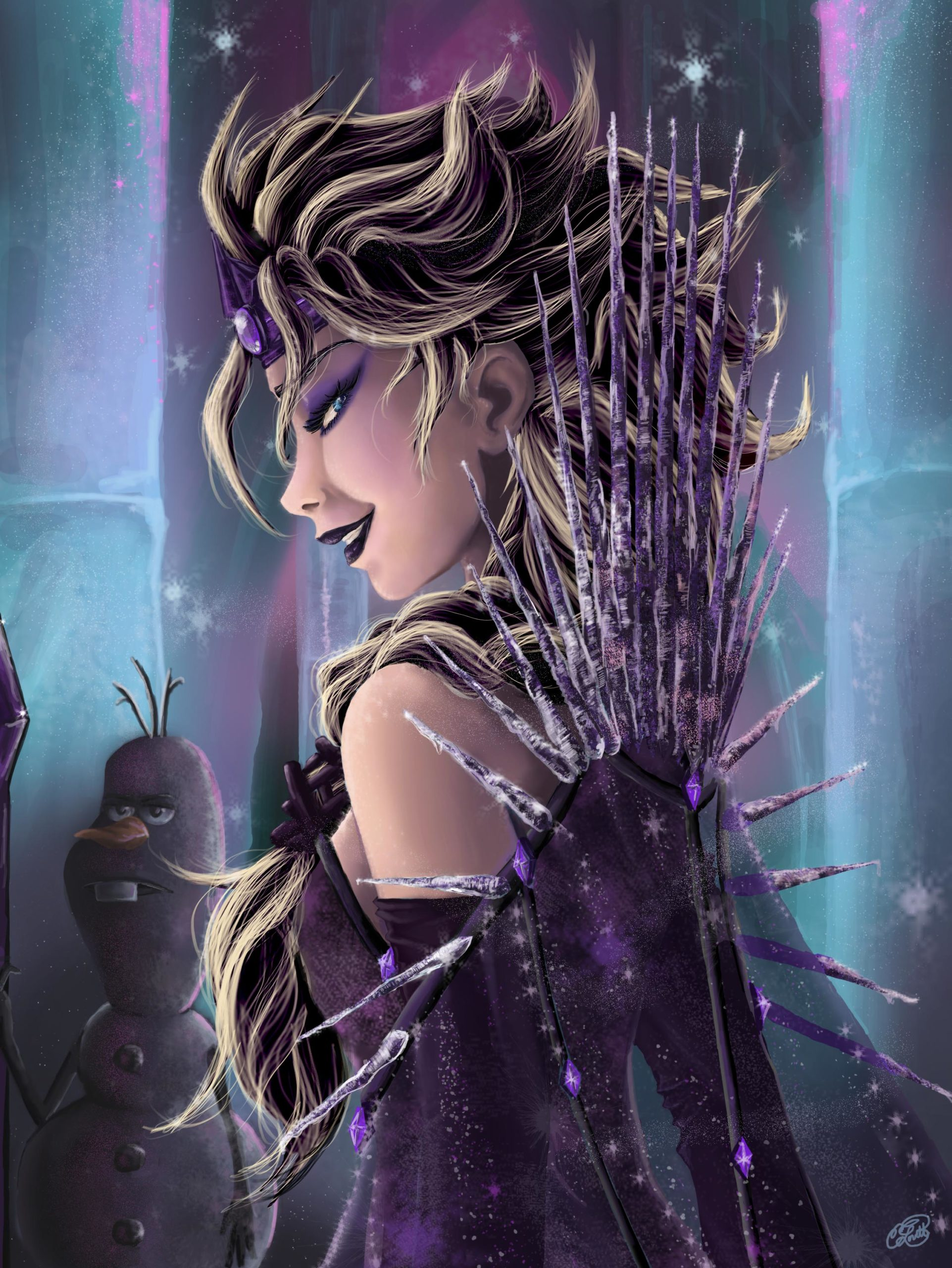 Disney princesses reimagined as villains 11