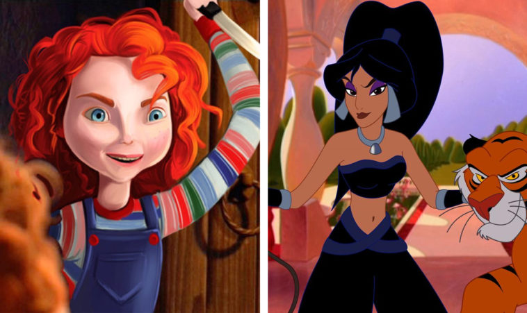 Disney princesses reimagined as villains 11