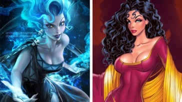 Disney villains reimagined as princesses 16
