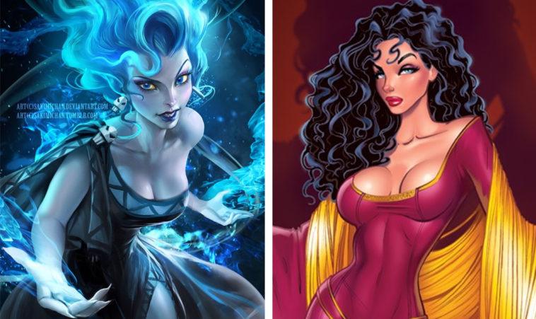 Disney villains reimagined as princesses 12