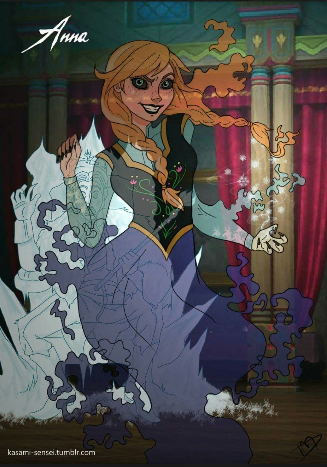 Disney princesses reimagined as villains 12