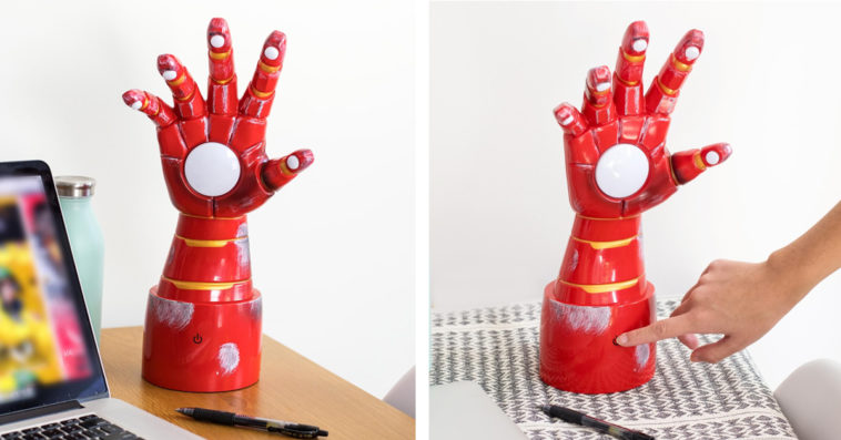 Iron Man's Gauntlet is now an awesome desk lamp that is perfect for WFH 15
