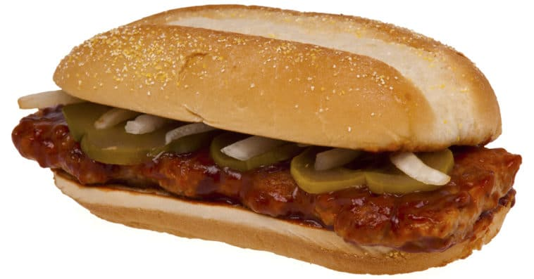 Get a free McRib from McDonald's by shaving your facial hair 20