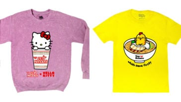 Sanrio and Nissin collab for a clothing collection featuring Hello Kitty and Gudetama 13