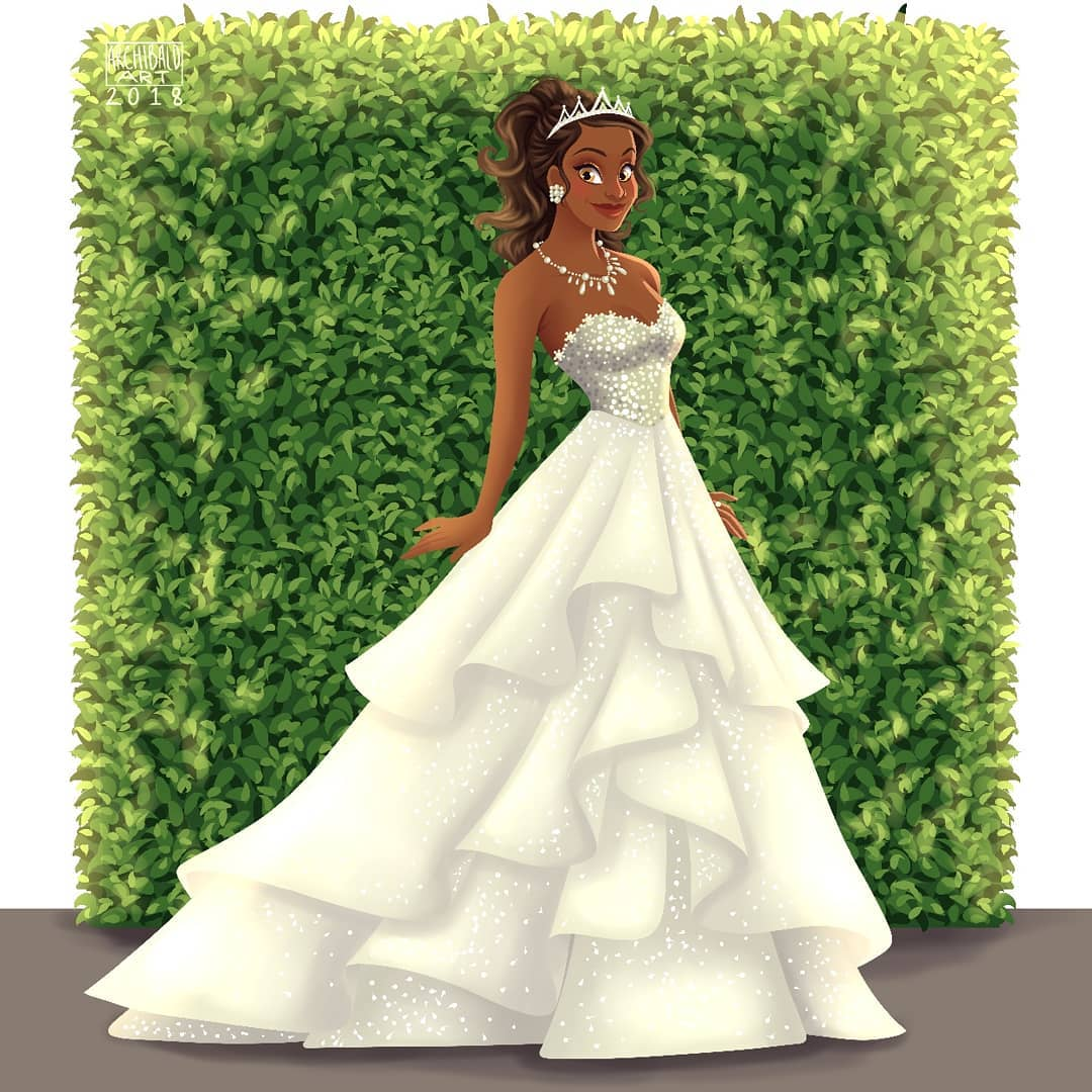 What Disney princesses would look like on their wedding days 12