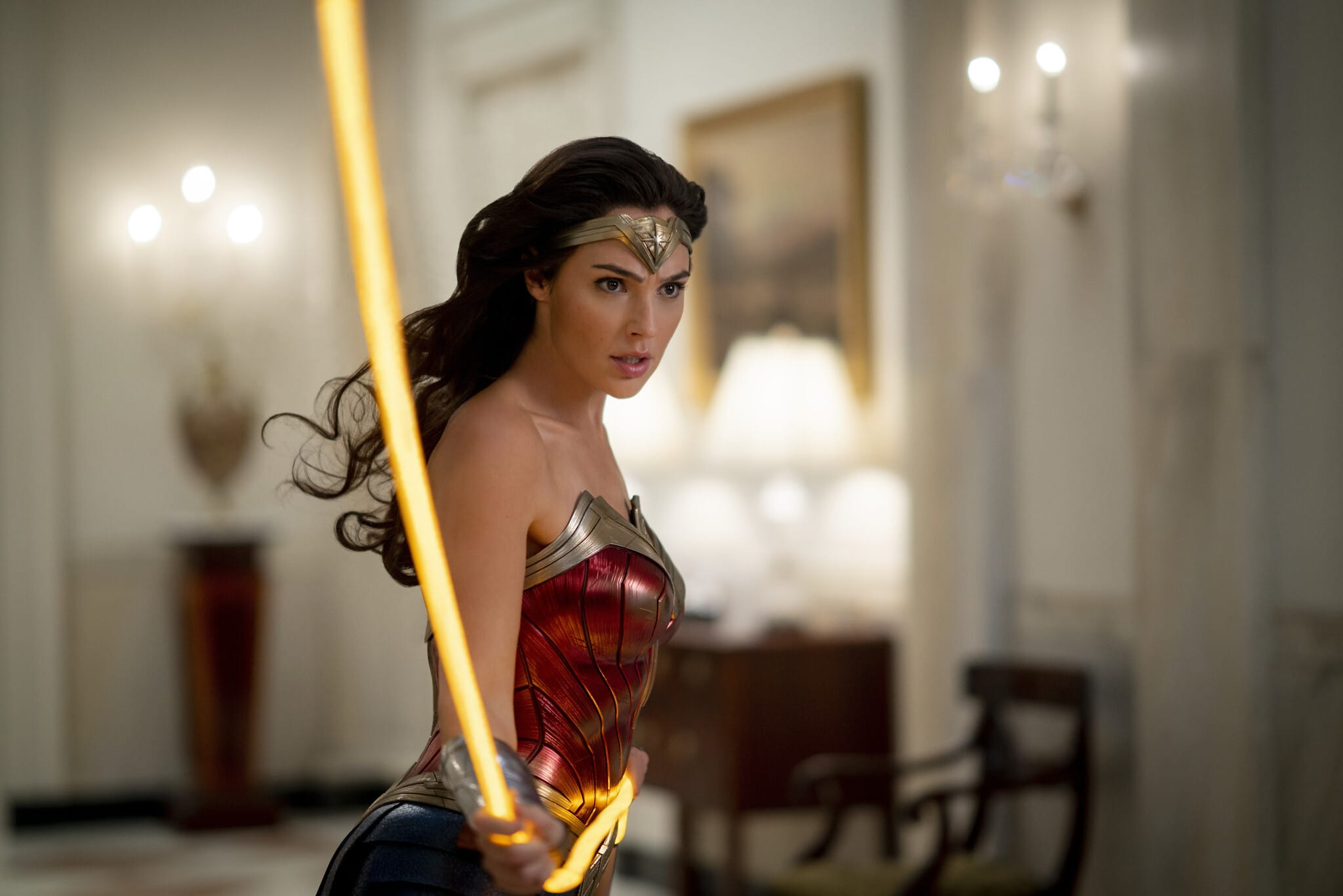 A photo still from Wonder Woman 1984