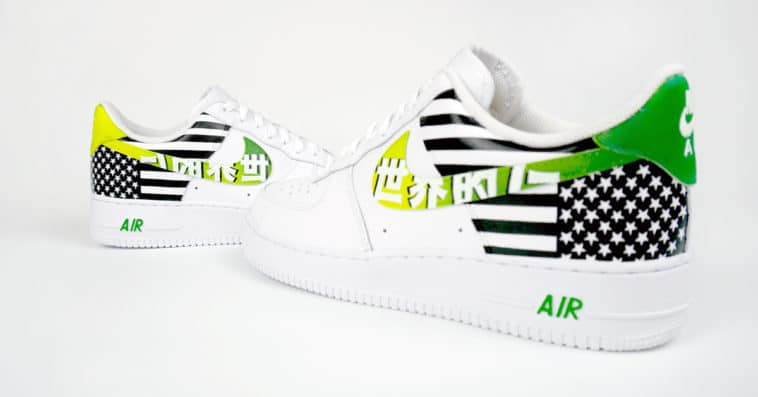 A$AP TyY releases Nike Air Force 1 shoes customized by CroxxHatch 12