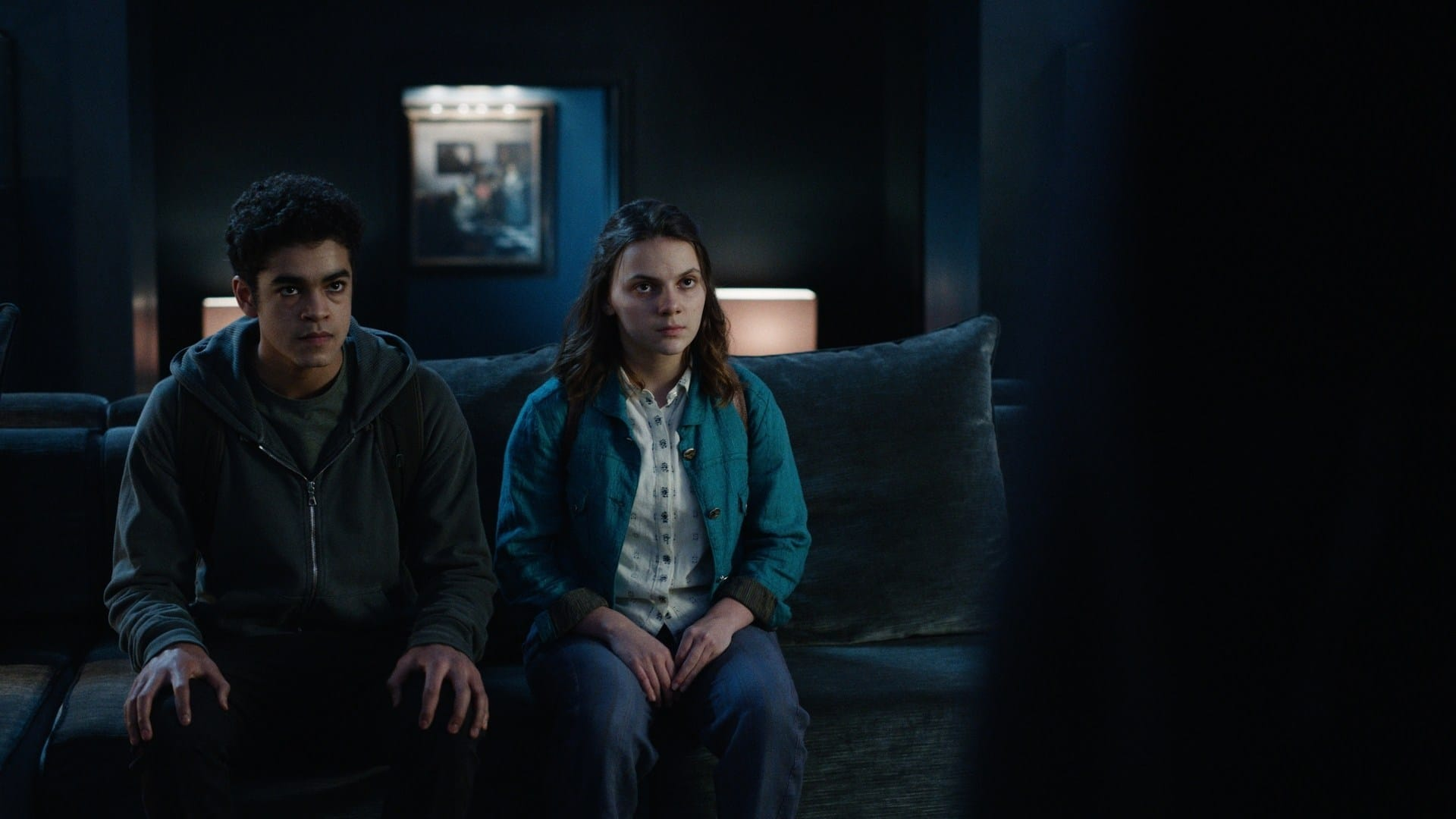 Amir Wilson as Will Parry and Dafne Keen as Lyra Belacqua in His Dark Materials season 2