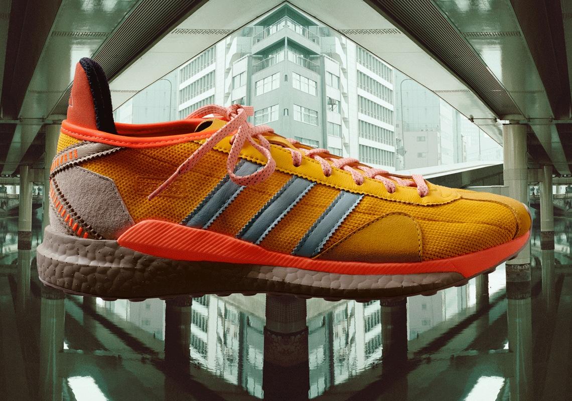 Pharrell Williams x Nigo x Adidas Tokio Solar Hu Shoes (Yellow)