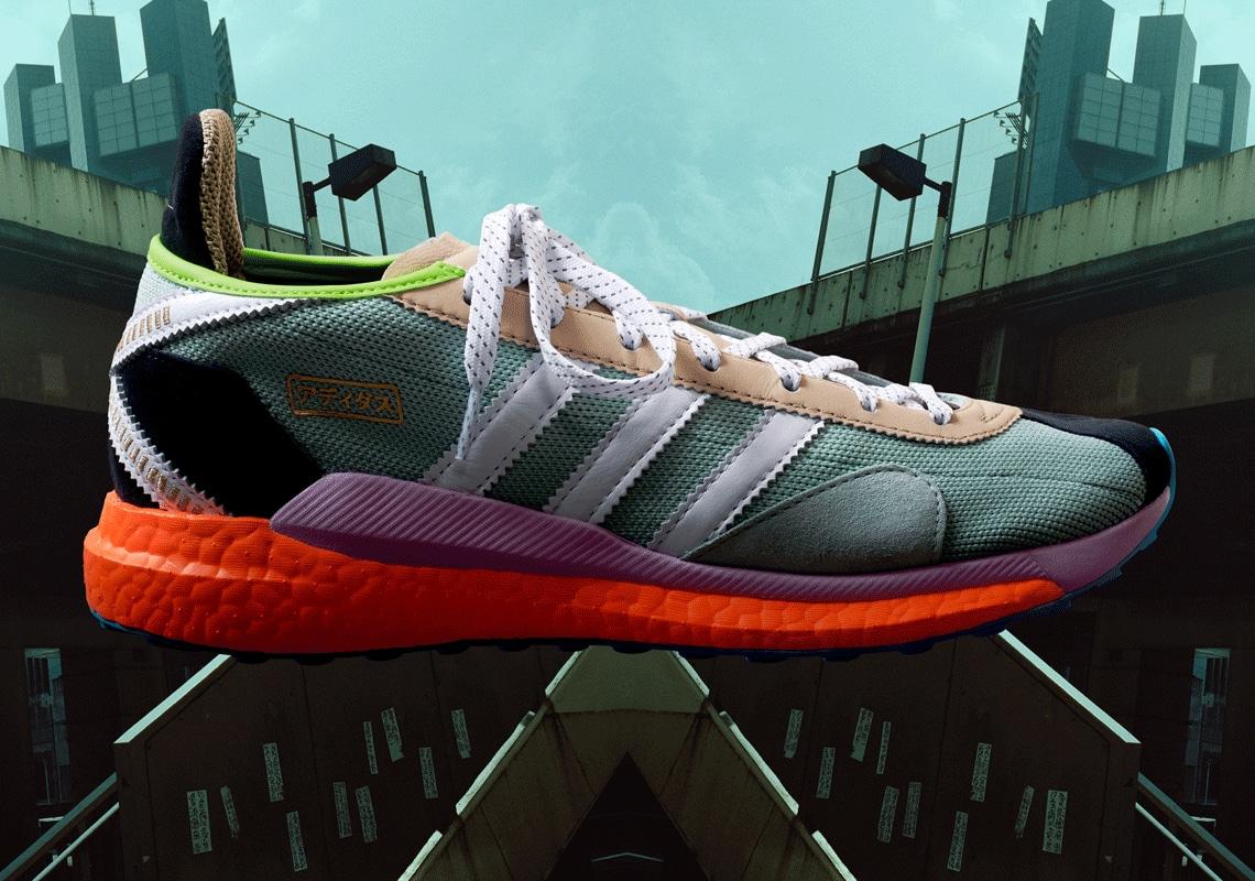 Pharrell Williams x Nigo x Adidas Tokio Solar Hu Shoes (Light Blue)