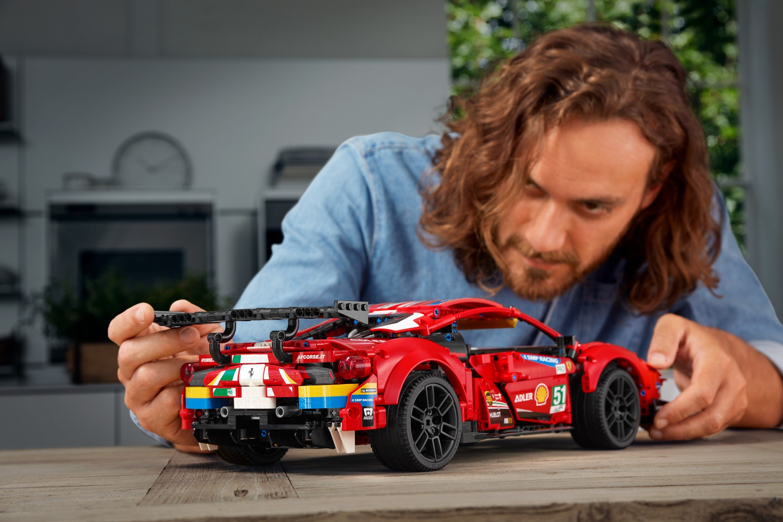 The Ferrari 488 GTE LEGO replica captures the ferocious look of the original 22