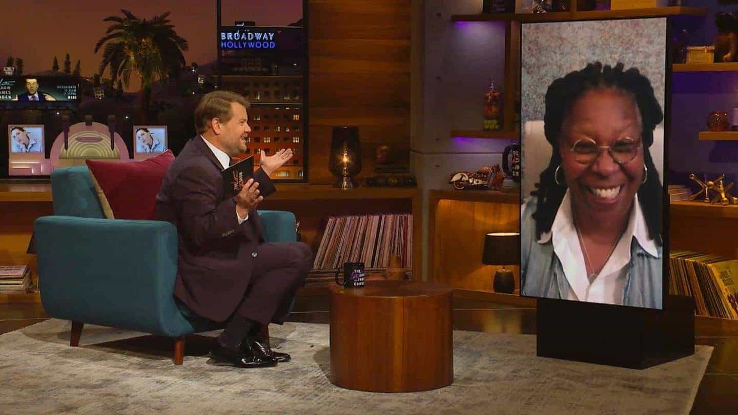 Whoopi Goldberg teases Sister Act 3 during an appearance in The Late Late Show with James Corden in October