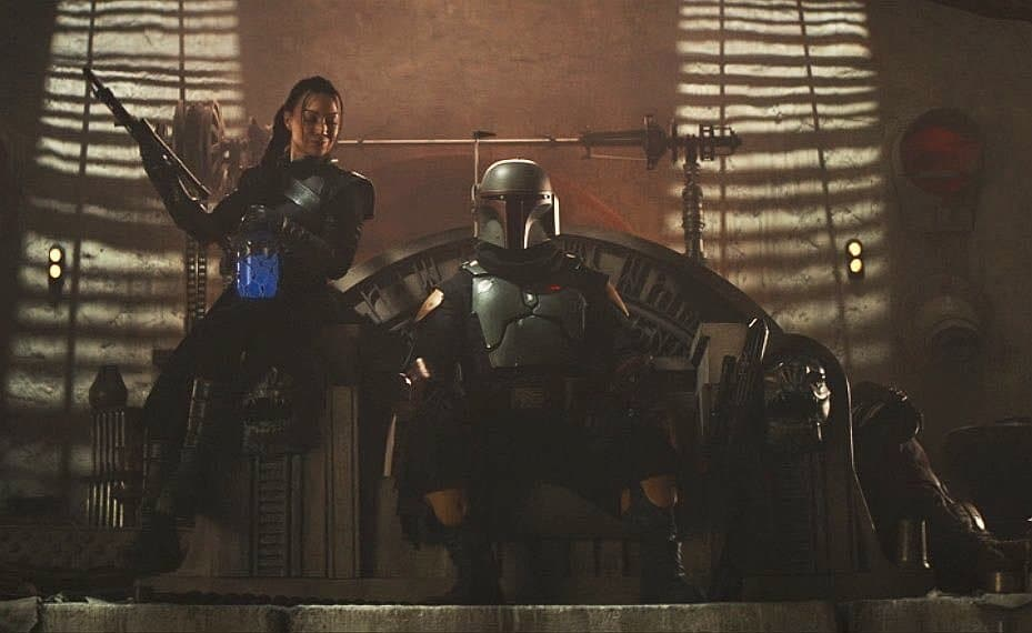 The two main characters of The Book of Boba Fett: Fennec Shand and Boba Fett himself