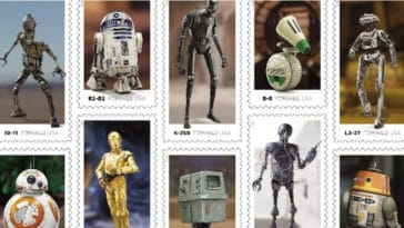 Droids-inspired Star Wars stamps