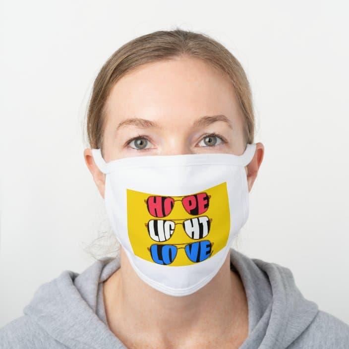 Hope Light Love Biden face mask