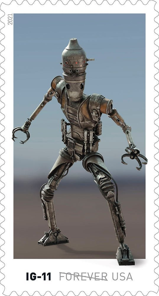 Here's our first look at droids-inspired Star Wars stamps coming this spring 9