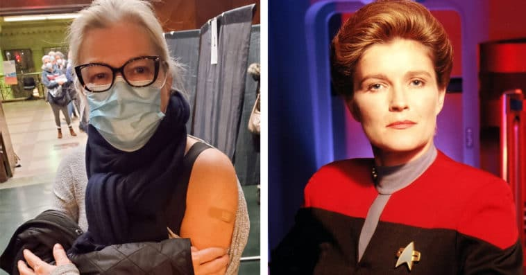 Star Trek: Prodigy's Kate Mulgrew and Star Trek: Voyager's Captain Kathryn Janeway