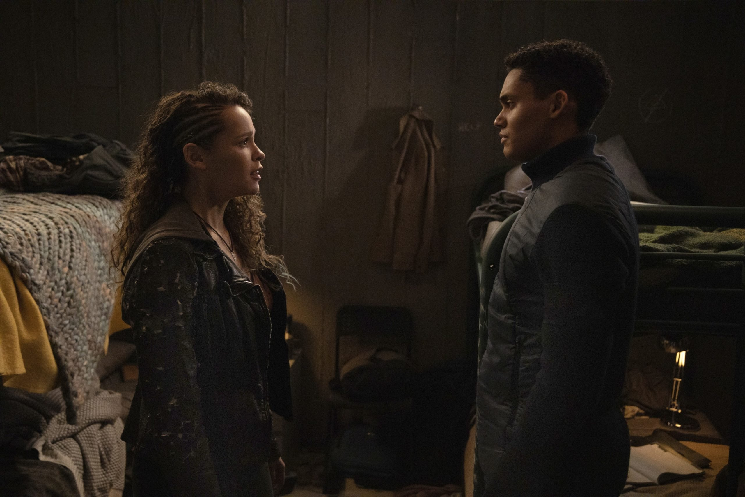 Lola Evans as Callie and Adain Bradley as and Reese in the backdoor pilot for The 100 prequel