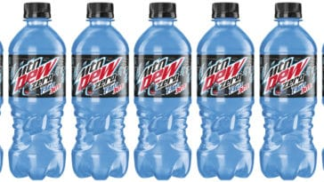 Mountain Dew Frost Bite zero sugar version