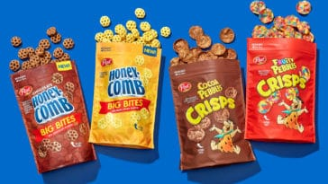 Pebbles Crisps and Honeycomb Big Bites cereal snacks
