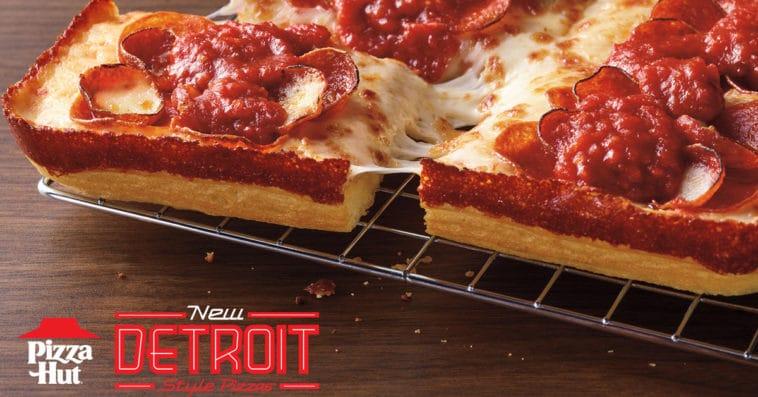 Pizza Hut Detroit-Stye pizza