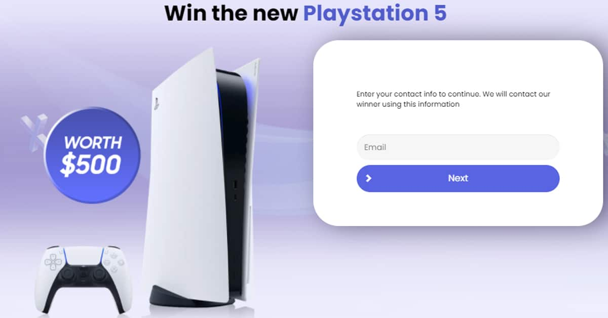 PlayStation 5 giveaway