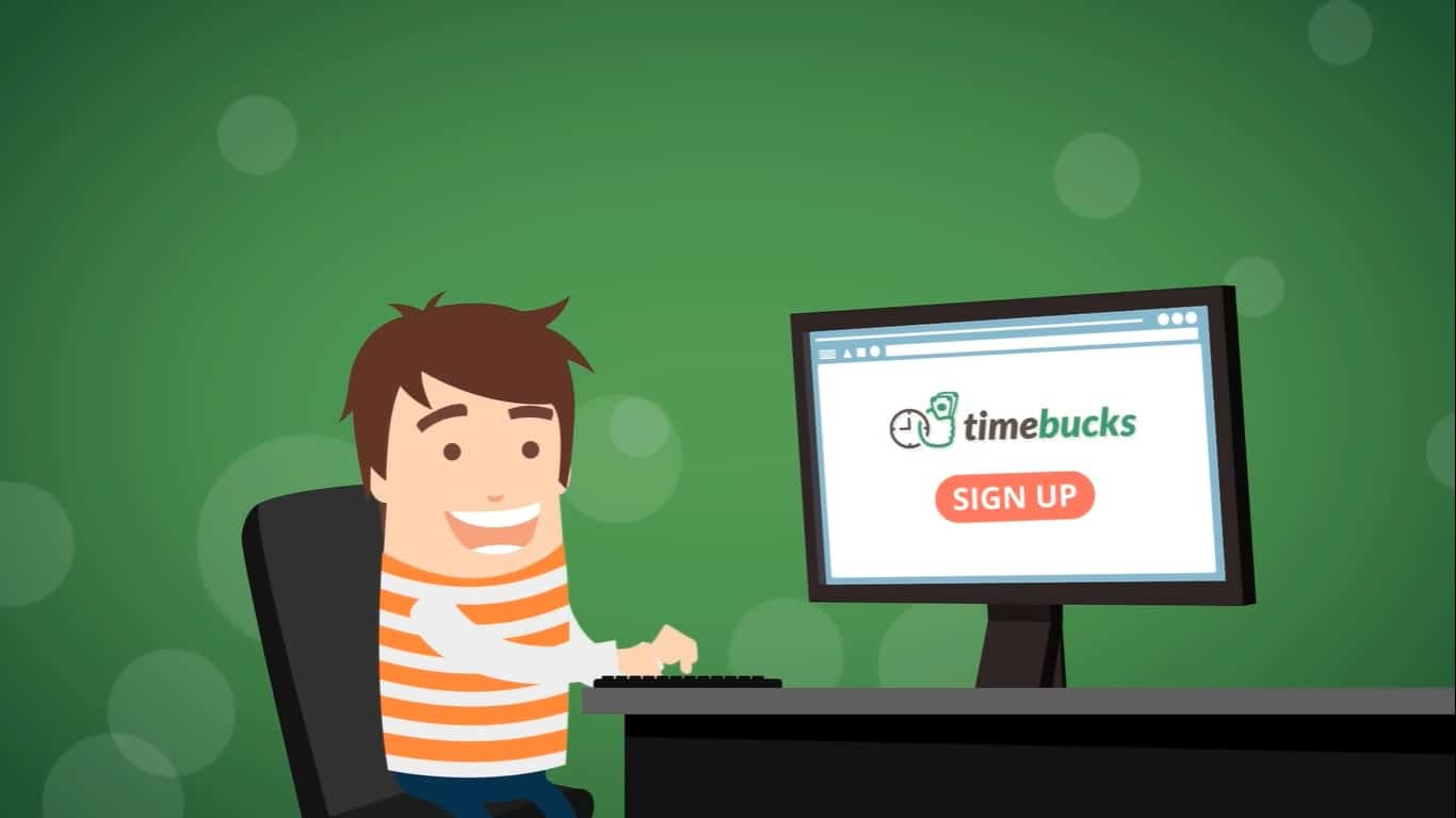 Sign up for TimeBucks