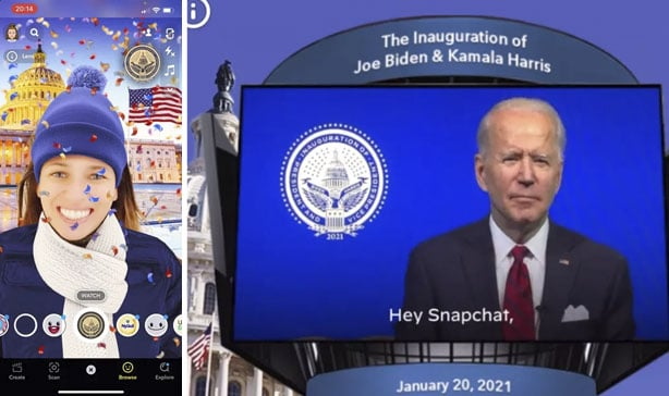 Joe Biden releases a special Snapchat lens for his inauguration 13