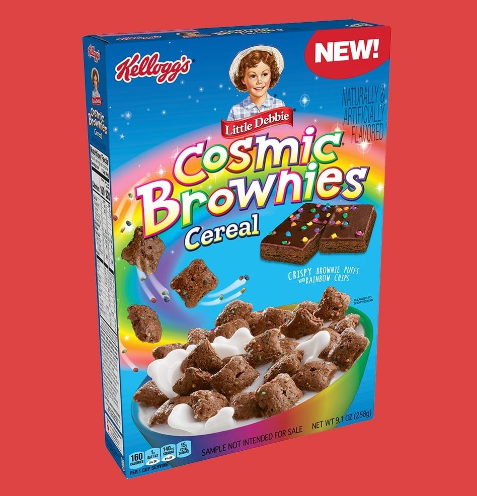 Little Debbie Cosmic Brownies get a cereal version from Kellogg's 14