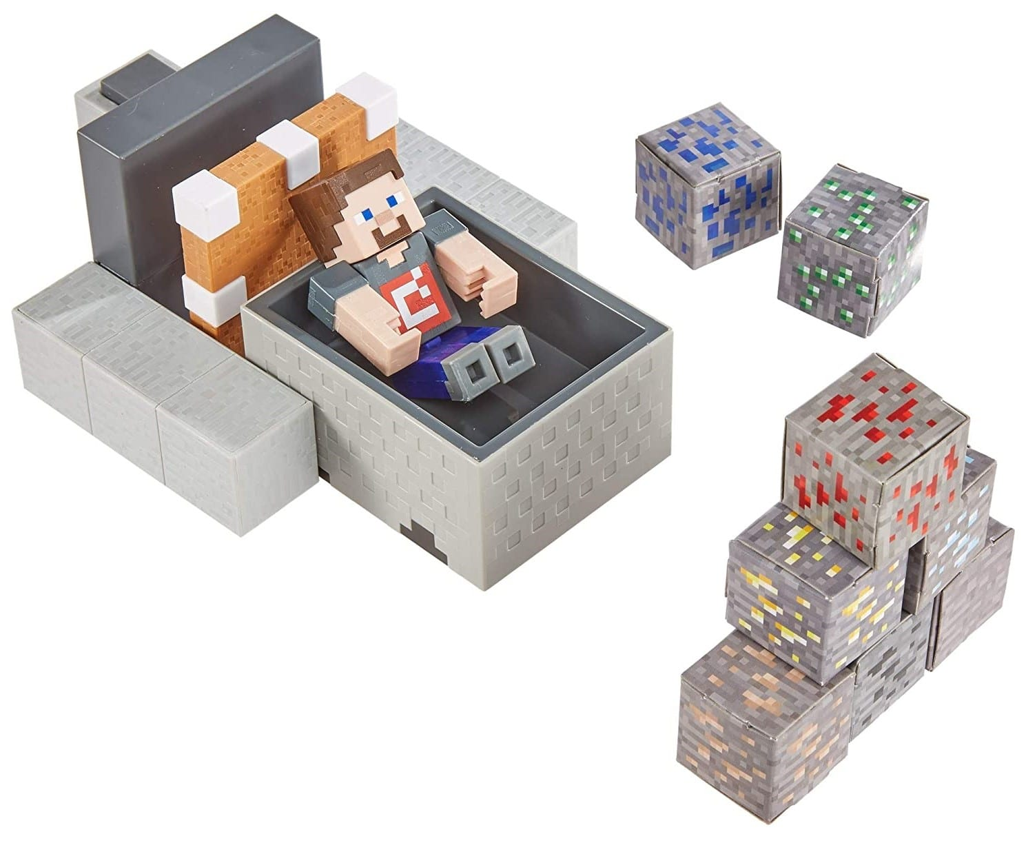 Minecraft Minecart Mayhem Playset brings the game's off-the-rails fun into the real world 13