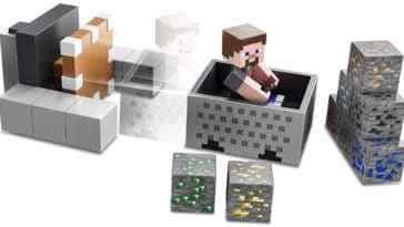 Minecraft Minecart Mayhem Playset brings the game's off-the-rails fun into the real world 12