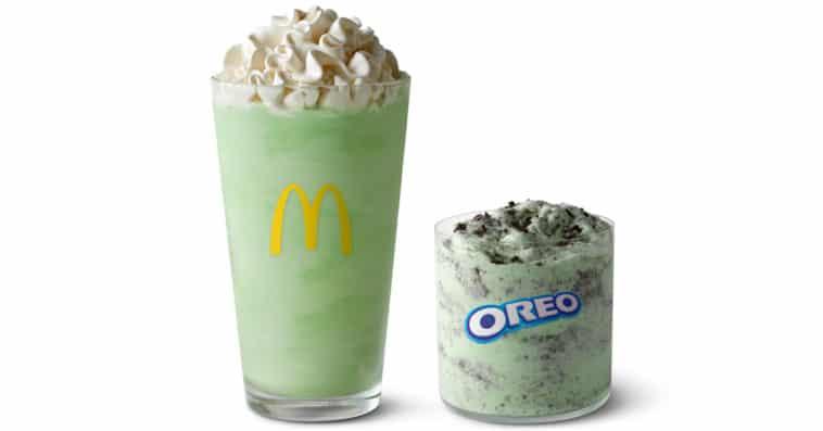 McDonald's Shamrock Shake and Oreo Shamrock McFlurry