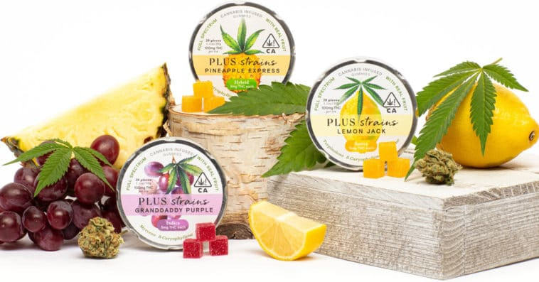 PLUS introduces cannabis-infused edibles with strain-specific gummies 9