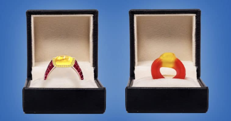 This $34k engagement ring is inspired by the Haribo Friendship Rings candy 11