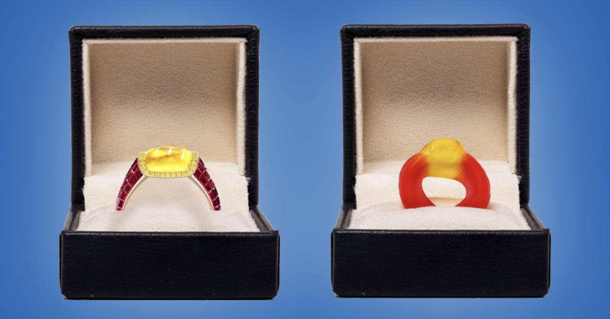 This $34k engagement ring is inspired by the Haribo Friendship Rings candy 12