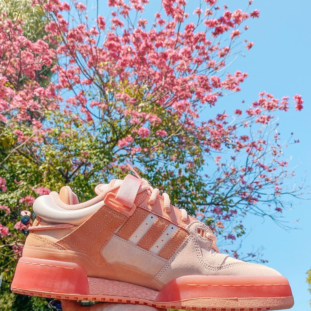 Bad Bunny and Adidas unveil a pink version of their Forum Buckle Low collab 18