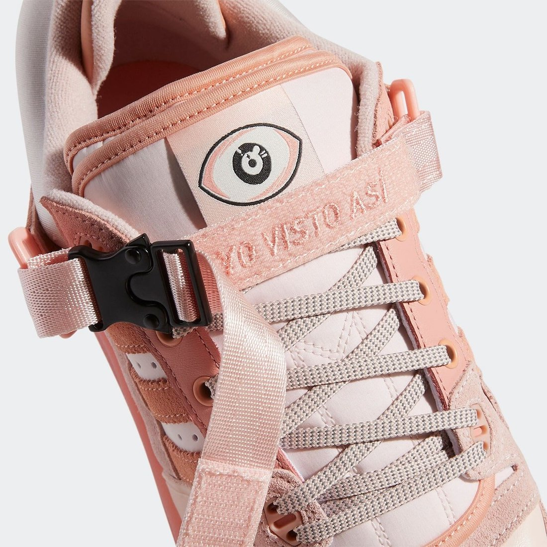 Bad Bunny and Adidas unveil a pink version of their Forum Buckle Low collab 15