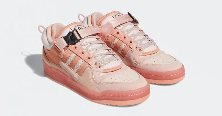 Bad Bunny and Adidas unveil a pink version of their Forum Buckle Low collab 11