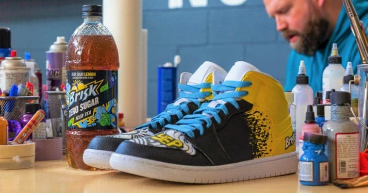 Brisk launches Zero Sugar Lemon Iced Tea with a sneaker collab with Mache 11
