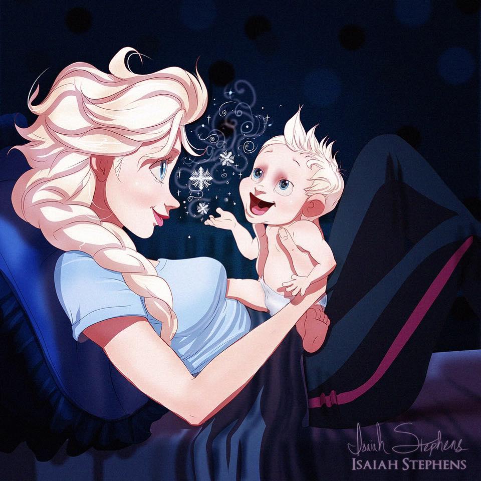Disney princesses reimagined as modern-day moms 11