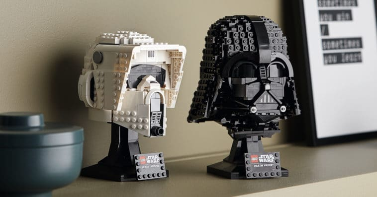 LEGO unveils Darth Vader and Scout Trooper helmet sets ahead of Star Wars Day 13