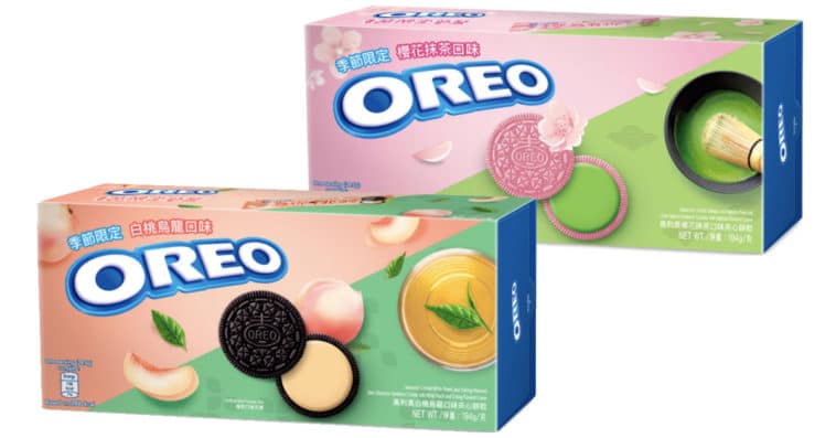 Oreo brings back Sakura Matcha and Oolong Peach flavors in time for spring 11