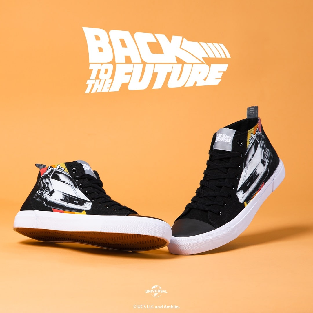 Akedo is dropping limited-edition Back to the Future sneakers this Friday 12