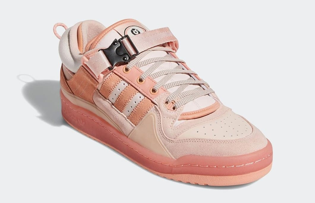 Bad Bunny and Adidas unveil a pink version of their Forum Buckle Low collab 14