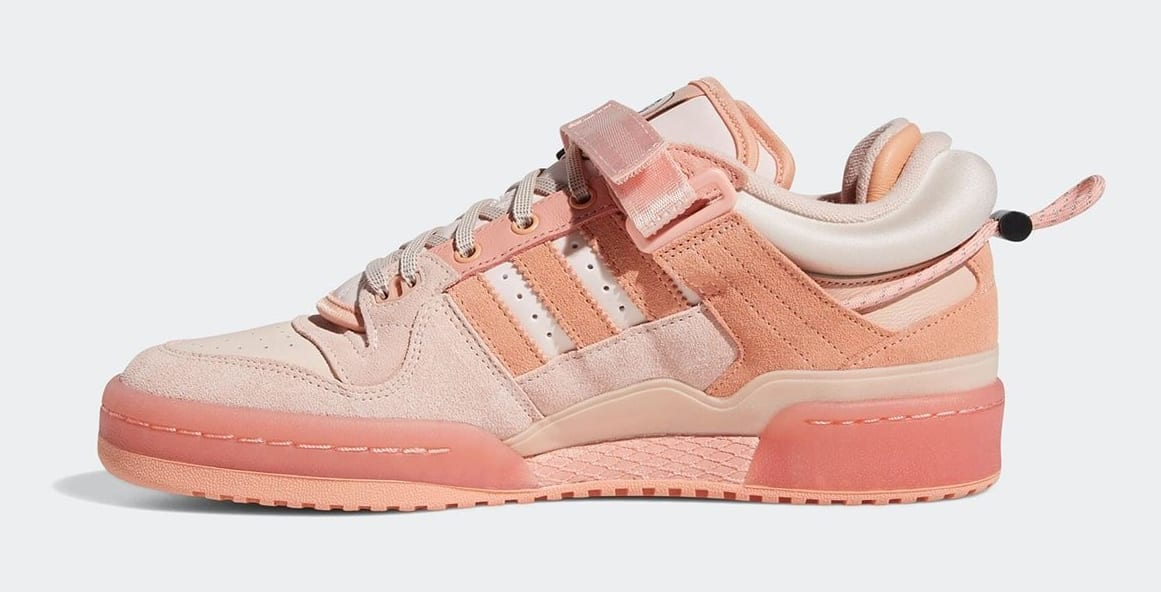 Bad Bunny and Adidas unveil a pink version of their Forum Buckle Low collab 13