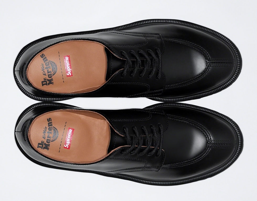 Supreme teams up with Dr. Martens for three bold iterations of the 5-Eye Shoe 17