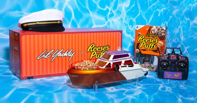 Lil Yachty x Reese's Puffs Lil Yacht takes cereal-eating experience to a new level 12